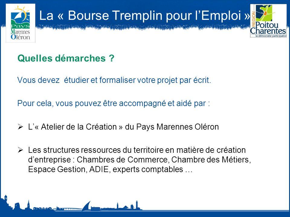 La « Bourse Tremplin pour lEmploi » Quelles démarches .