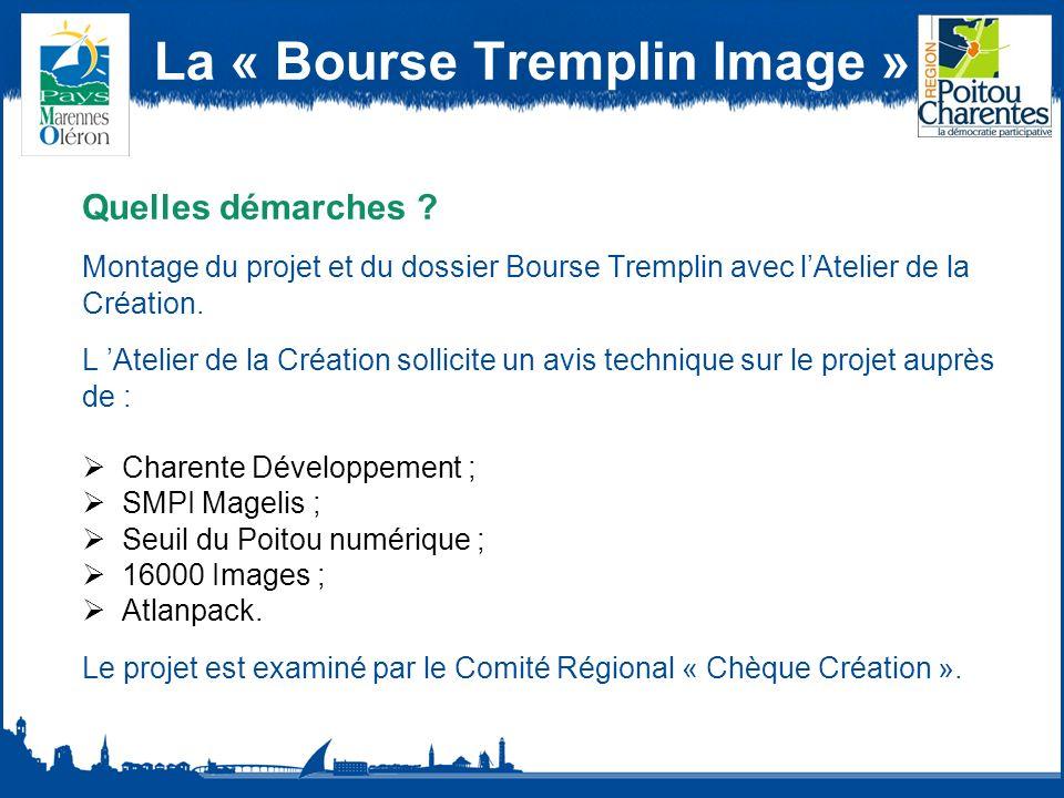 La « Bourse Tremplin Image » Quelles démarches .