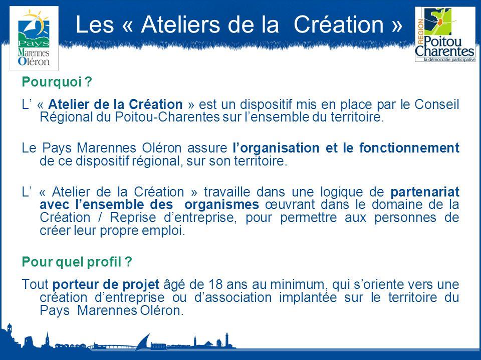 Les « Ateliers de la Création » Pourquoi .