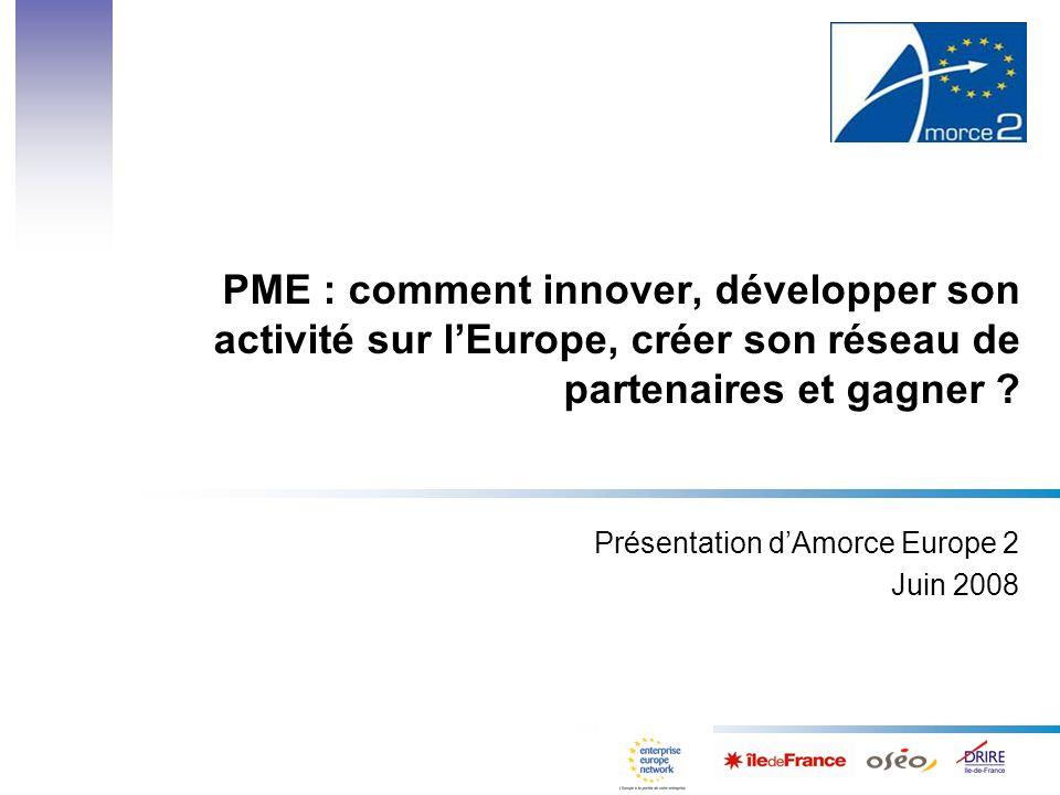 PME : comment innover, développer son activité sur lEurope, créer son réseau de partenaires et gagner .