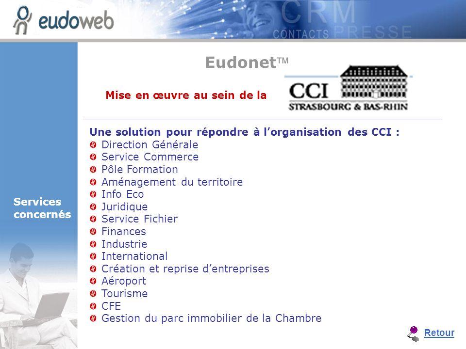 Une solution pour répondre à lorganisation des CCI : Direction Générale Service Commerce Pôle Formation Aménagement du territoire Info Eco Juridique S