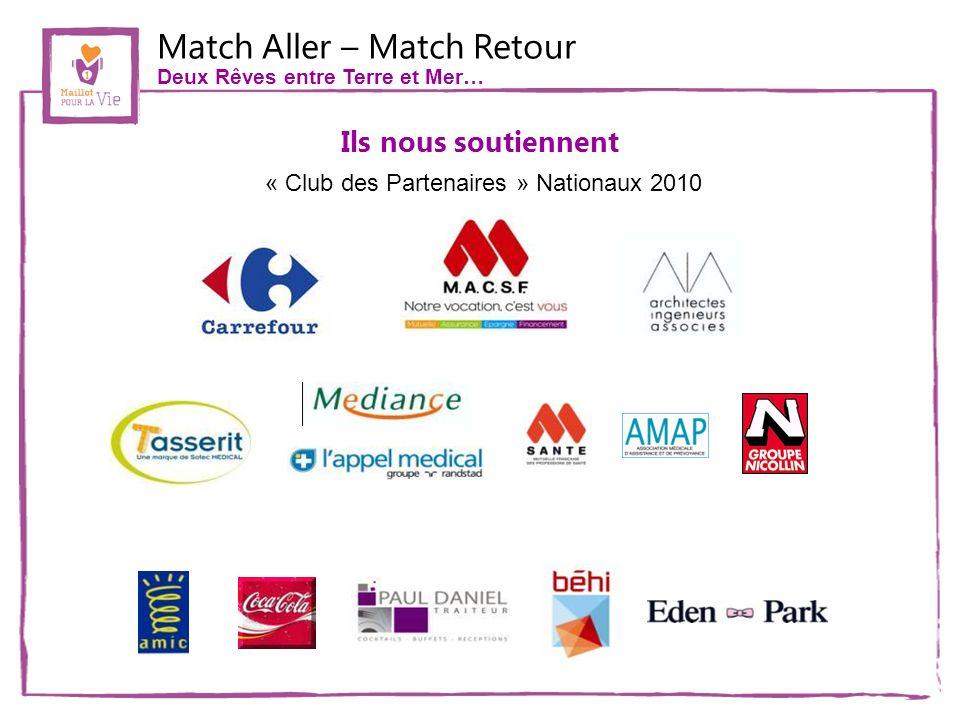 Match Aller – Match Retour Deux Rêves entre Terre et Mer… Ils nous soutiennent « Club des Partenaires » Nationaux 2010