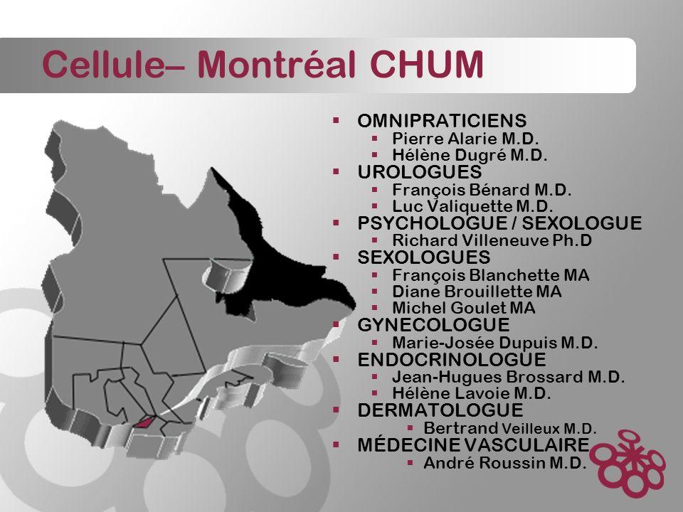 Cellule– Montréal CHUM OMNIPRATICIENS Pierre Alarie M.D.
