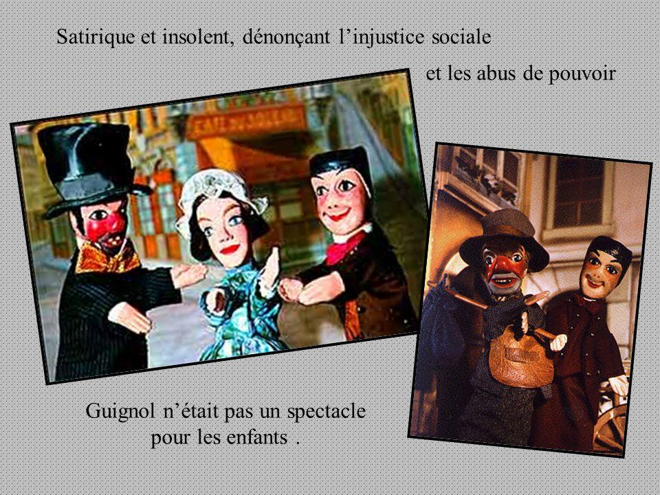 Madelon la « fenotte » de Guignol Le gendarme …et leurs amis. Mr Le Bailli juge Lirascible propriétaire