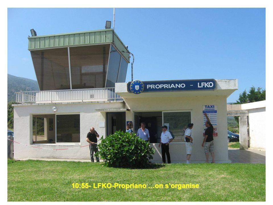 10:55- LFKO-Propriano …on sorganise