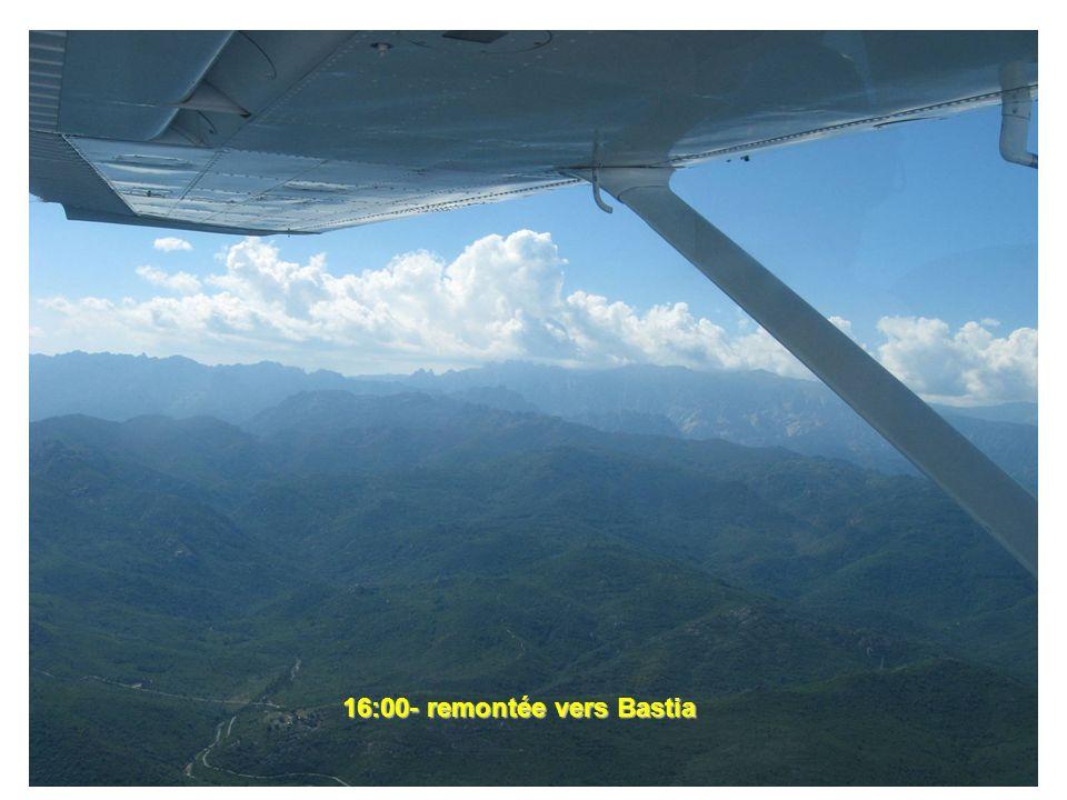 16:00- remontée vers Bastia