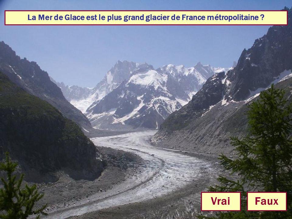 La Mer de Glace est le plus grand glacier de France métropolitaine ? VraiFaux