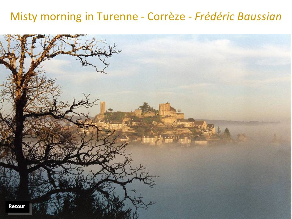 Misty morning in Turenne - Corrèze - Frédéric Baussian Retour