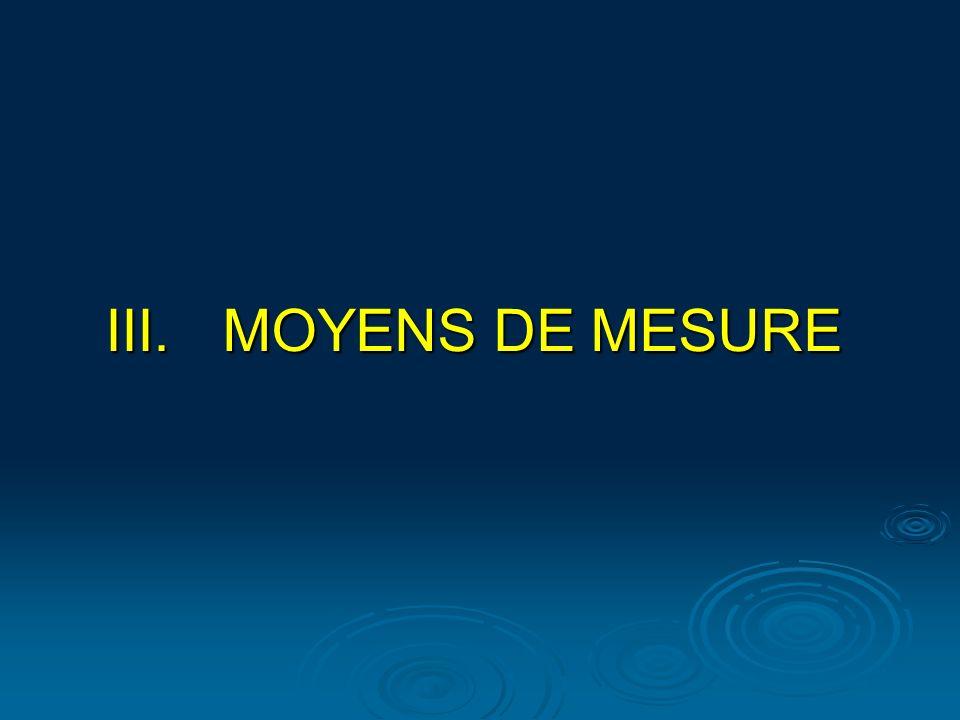 III.MOYENS DE MESURE