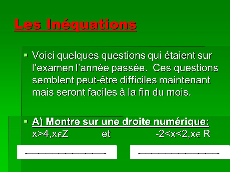 Quiz demain (25 points)