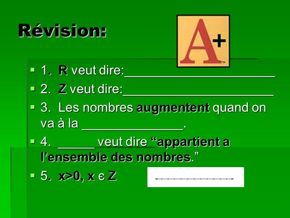 Révision: 1. R veut dire:_____________________ 1.