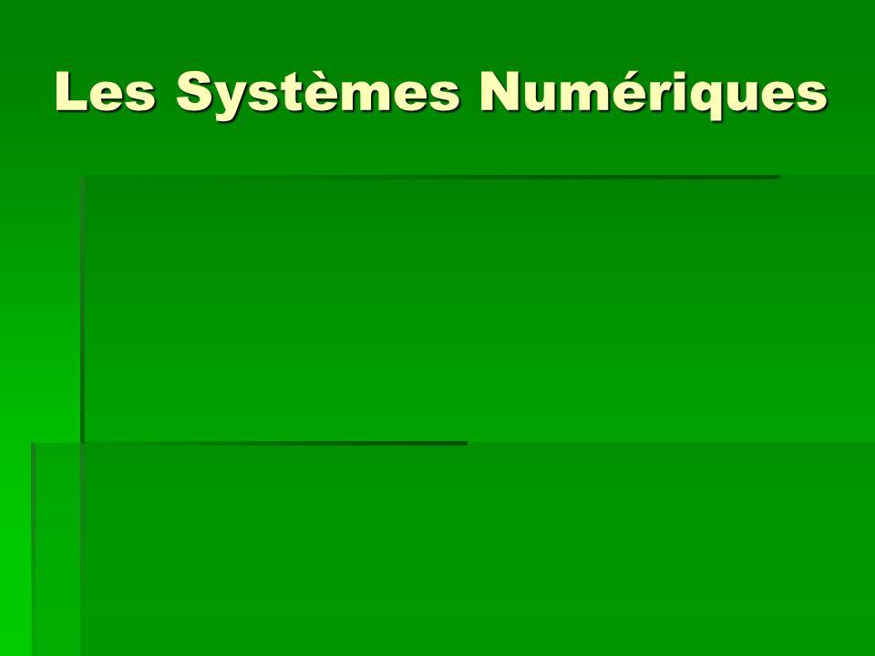 Les Systèmes Numériques