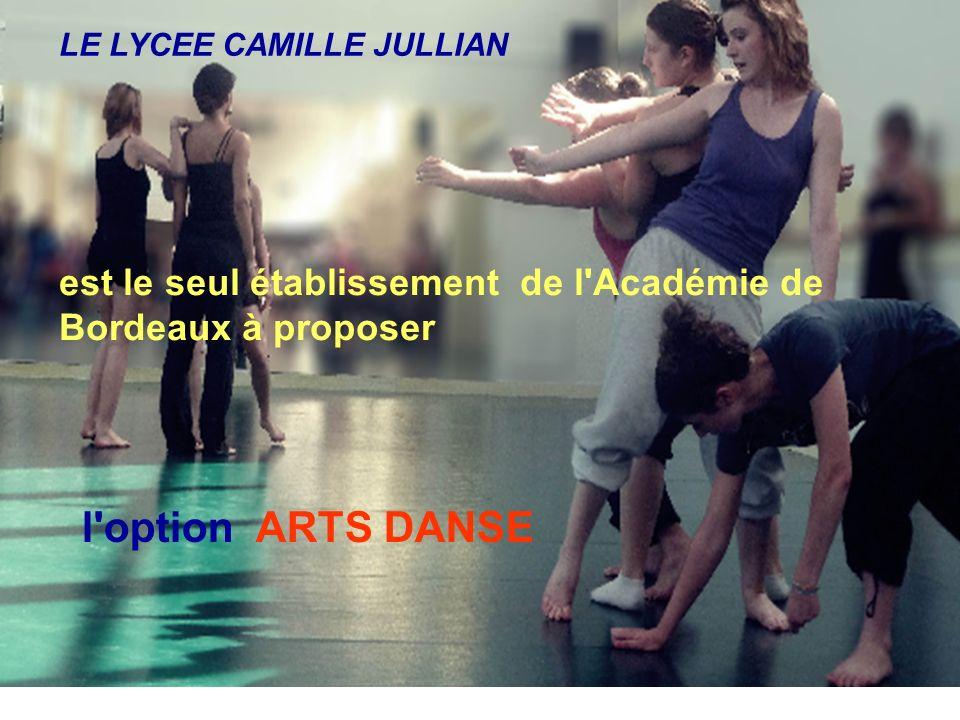 est le seul établissement de l'Académie de Bordeaux à proposer LE LYCEE CAMILLE JULLIAN l'option ARTS DANSE