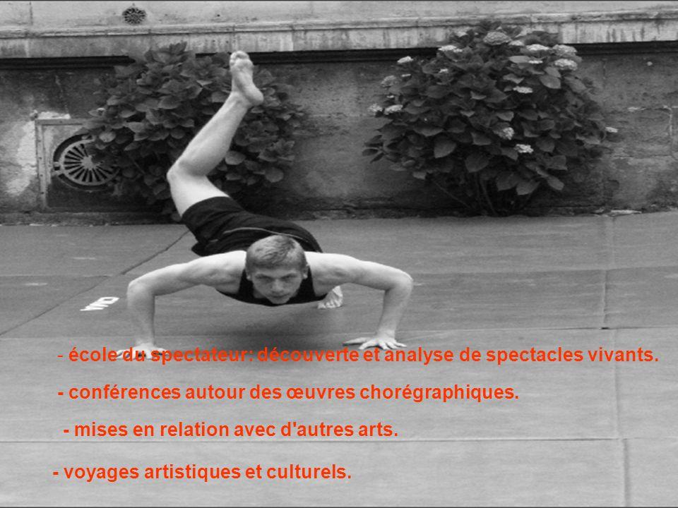 Nos partenaires: - CDC, Le Cuvier: centre de développement chorégraphique d Aquitaine.