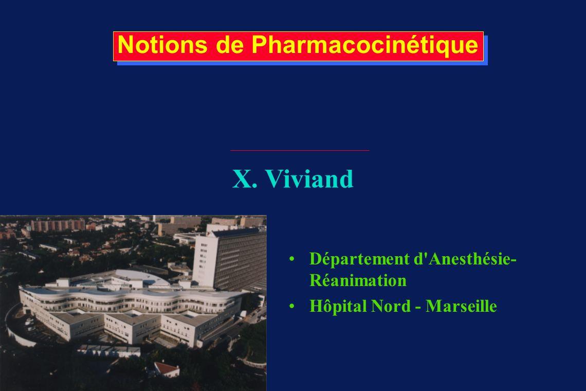 Notions de Pharmacocinétique X.