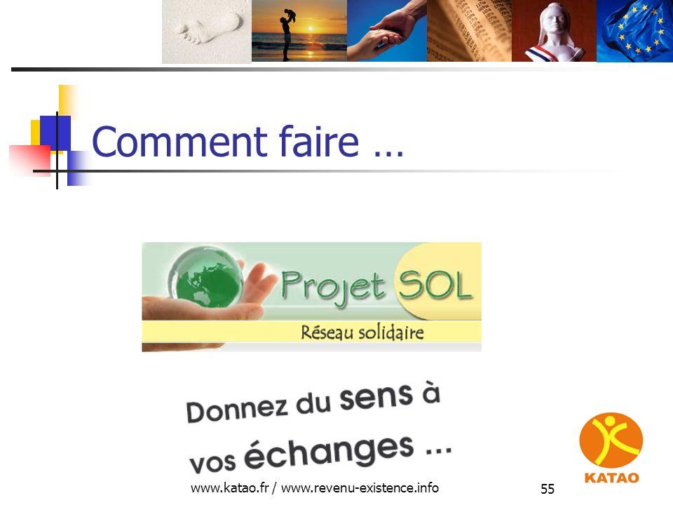 www.katao.fr / www.revenu-existence.info 55 Comment faire …
