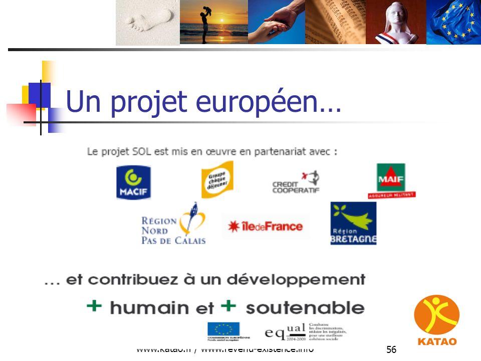 www.katao.fr / www.revenu-existence.info 56 Un projet européen…