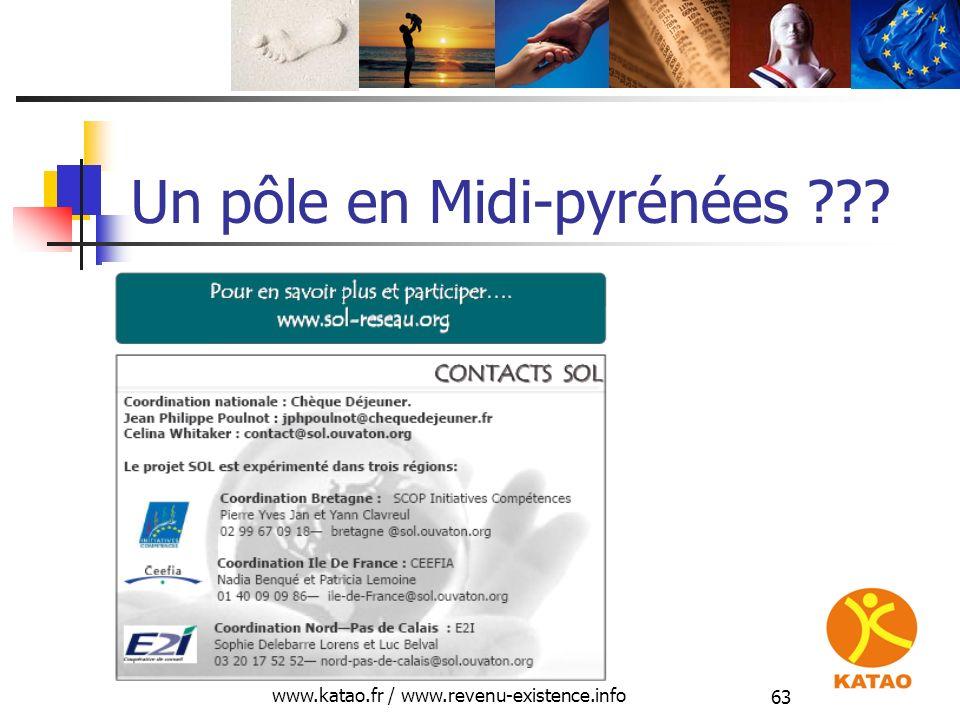 www.katao.fr / www.revenu-existence.info 63 Un pôle en Midi-pyrénées ???