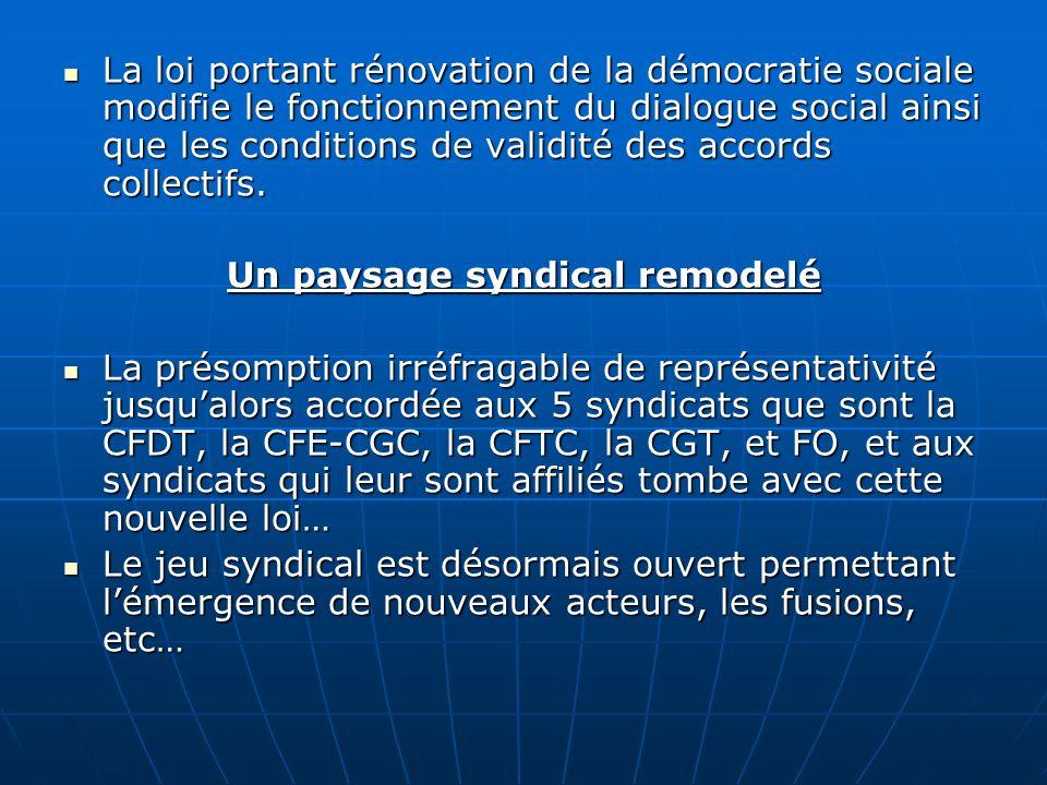 La loi portant rénovation de la démocratie sociale modifie le fonctionnement du dialogue social ainsi que les conditions de validité des accords colle