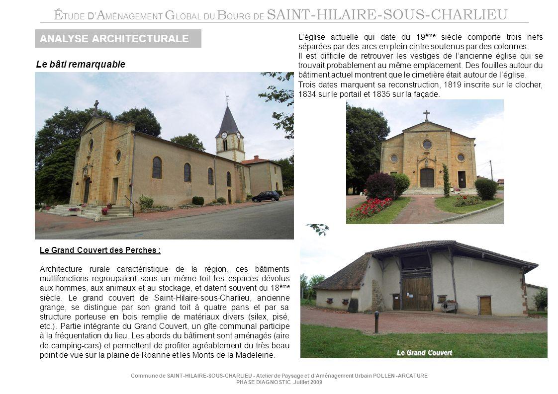 É TUDE D A MÉNAGEMENT G LOBAL DU B OURG DE SAINT-HILAIRE-SOUS-CHARLIEU Commune de SAINT-HILAIRE-SOUS-CHARLIEU - Atelier de Paysage et dAménagement Urb