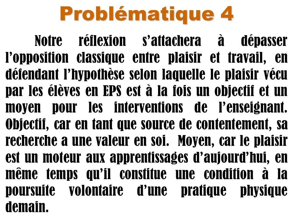 Problématique 4 Notre réflexion sattachera à dépasser lopposition classique entre plaisir et travail, en défendant lhypothèse selon laquelle le plaisi