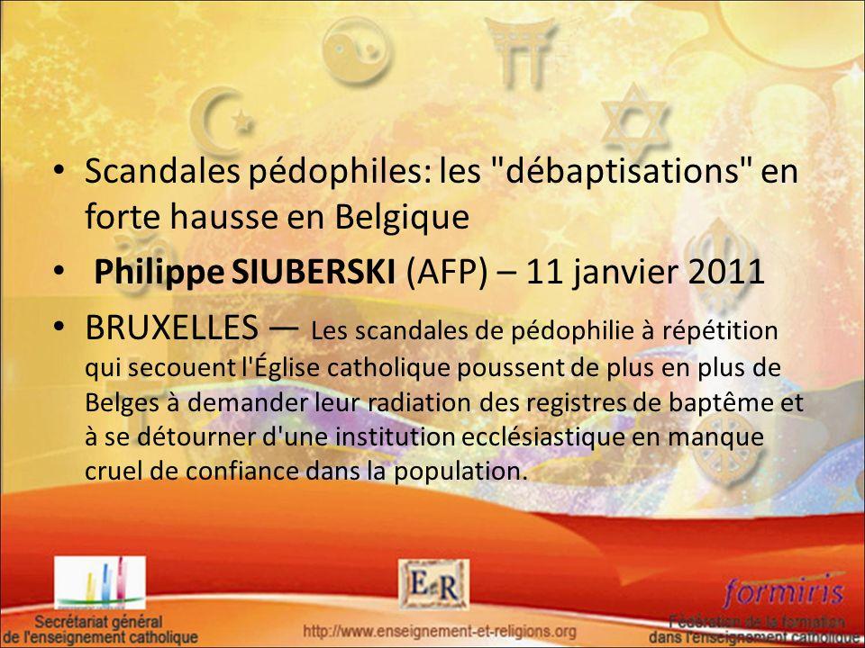 Scandales pédophiles: les
