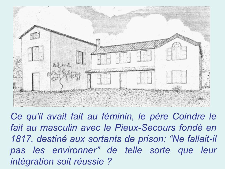 Et lobjet de lapostolat de la Pieuse Union sera la Providence Saint- Bruno que le père Coindre fonde en 1816. Cette Providence est chargée de conduire