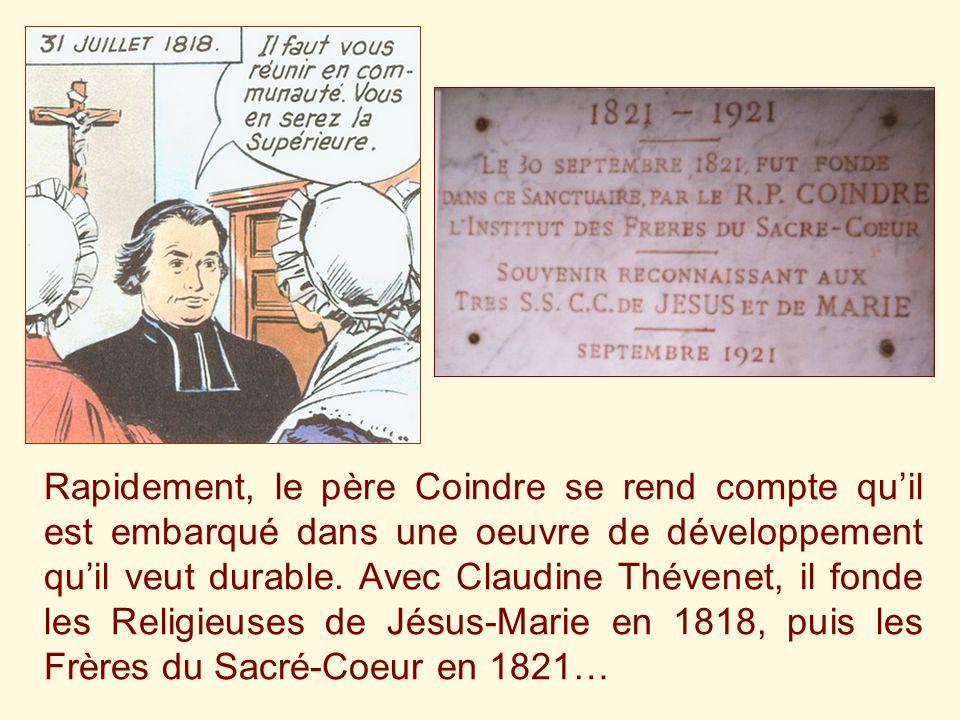 Ce quil avait fait au féminin, le père Coindre le fait au masculin avec le Pieux-Secours fondé en 1817, destiné aux sortants de prison: Ne fallait-il