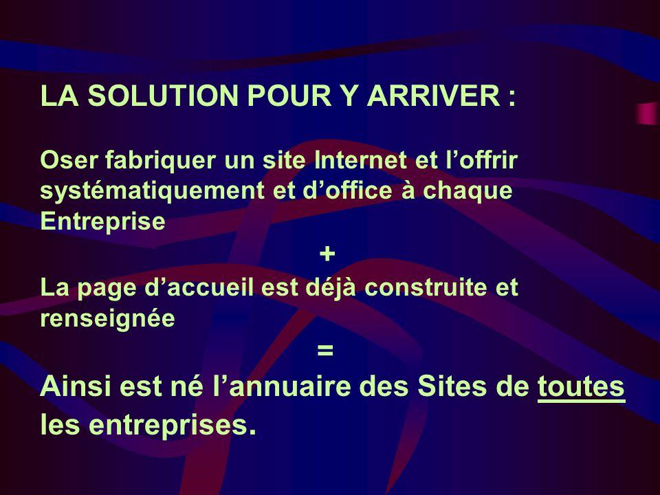 NOUS LAVONS CREE Il va être mis à disposition de tous très vite LANNUAIRE Bee27 est donc le seul à regrouper toutes les Entreprises, est donc le seul à regrouper tous les sites Internet de toutes les Entreprises.