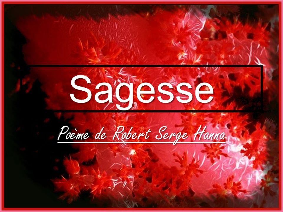 Sagesse Poème de Robert Serge Hanna