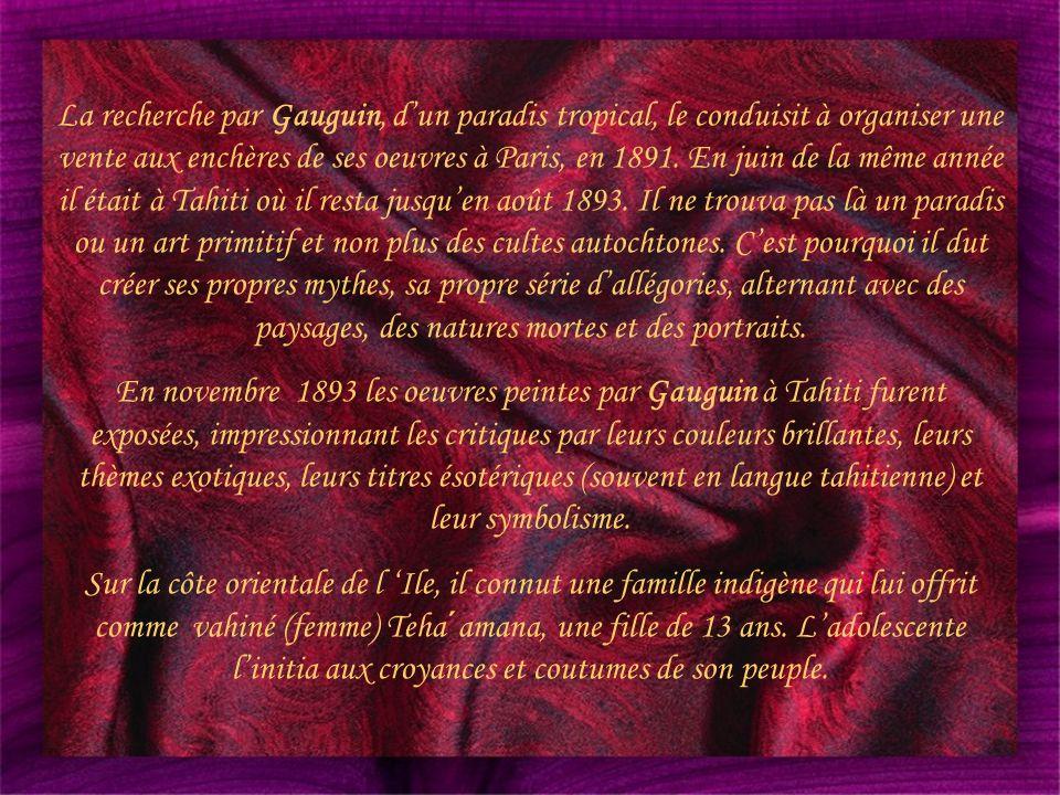 Paul Gauguin 1848 – 1903 Deuxième partie Présenté par LORALIX