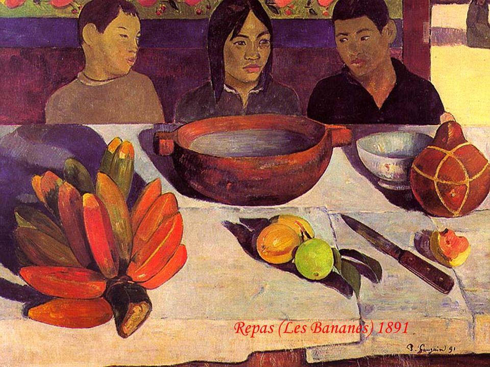 La recherche par Gauguin, dun paradis tropical, le conduisit à organiser une vente aux enchères de ses oeuvres à Paris, en 1891. En juin de la même an