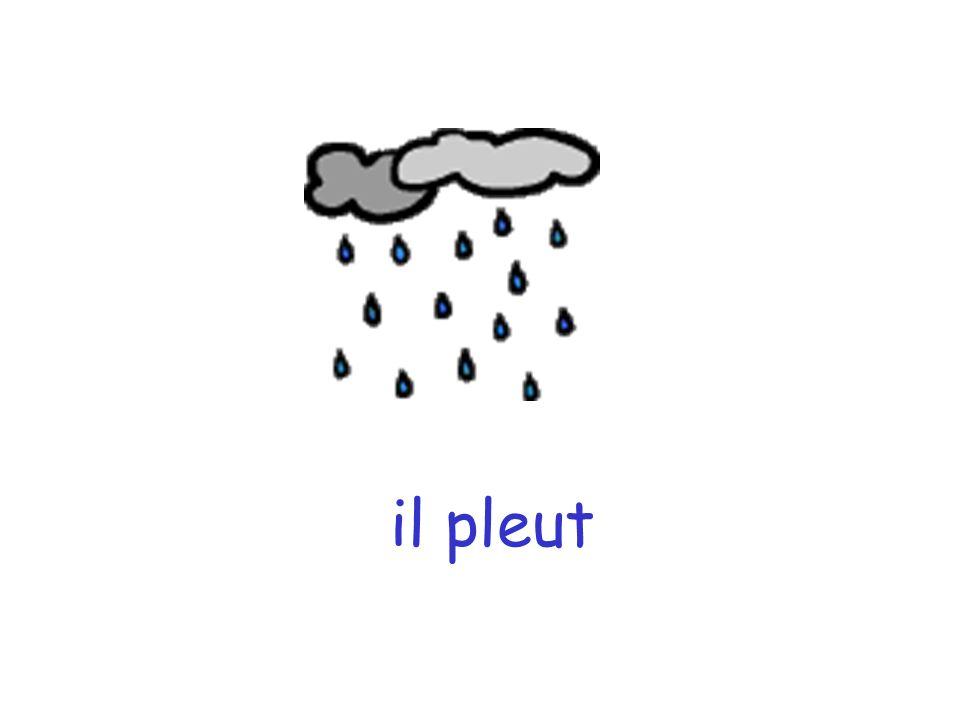 il y a du soleil il pleut