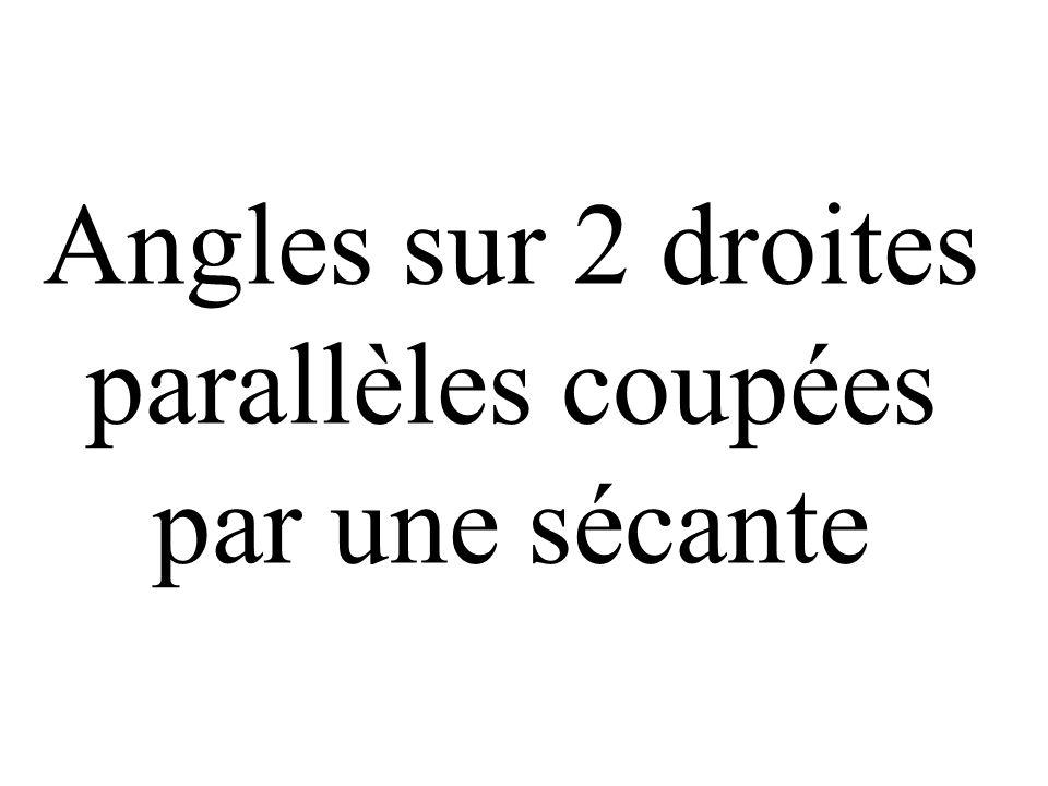 x (xx) et (yy) sont parallèles s coupées par la sécante (ss) x y y s aux points A et U. A U