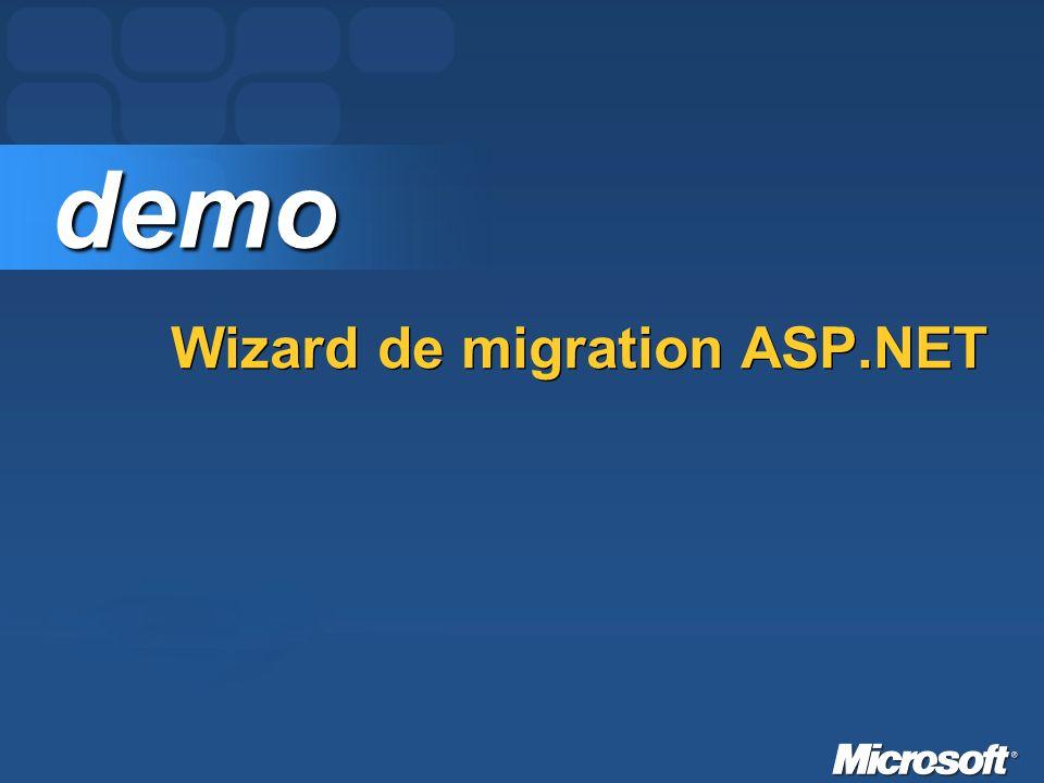 Wizard de migration ASP.NET demo demo
