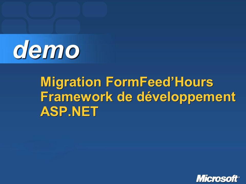 Migration FormFeedHours Framework de développement ASP.NET demo demo