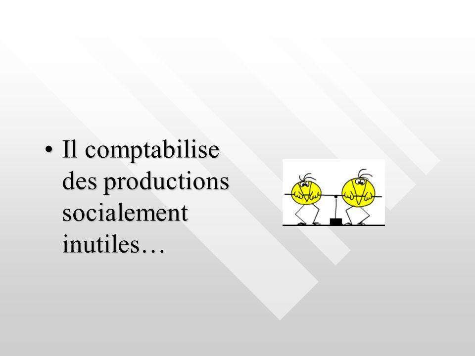 Il comptabilise des productions socialement inutiles…Il comptabilise des productions socialement inutiles…