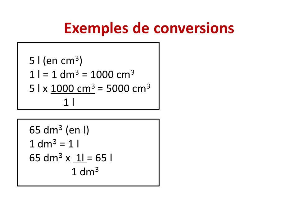 Suite: conversion Fiche pour sentrainer: Conversion Conversion: correction