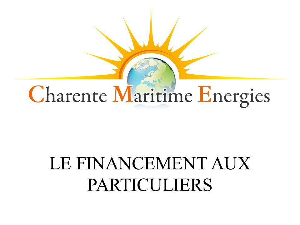 LE FINANCEMENT AUX PARTICULIERS