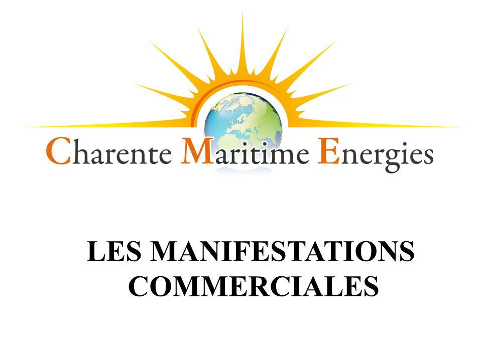 LES MANIFESTATIONS COMMERCIALES