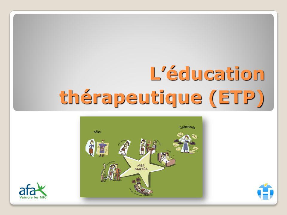 Sommaire Définition de lETP LETP concrètement (cest/ce nest pas) LETP en pratique Le diagnostic éducatif et la suite Le programme éducatif Evaluation Mise en place de lETP au CHU
