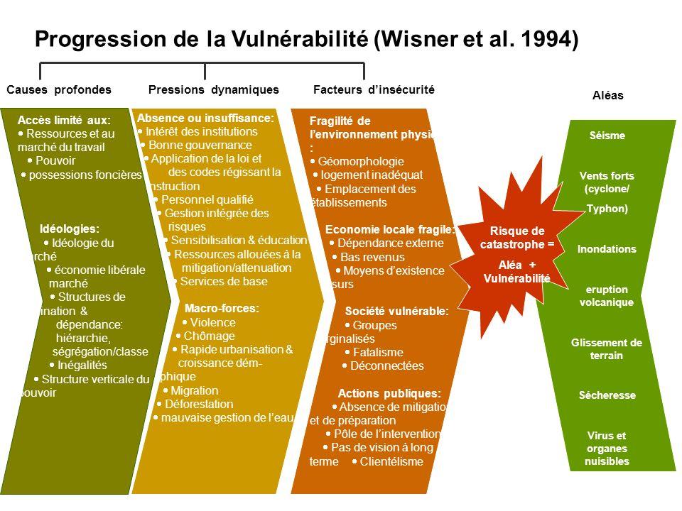 Progression de la sécurité (Wisner et al.