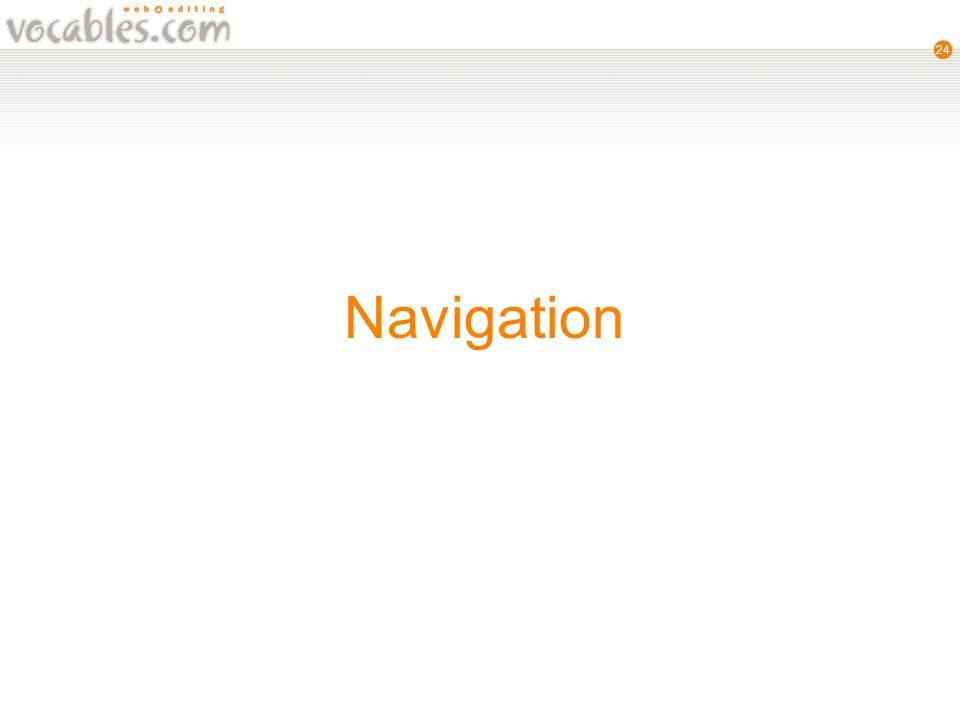 24 Navigation