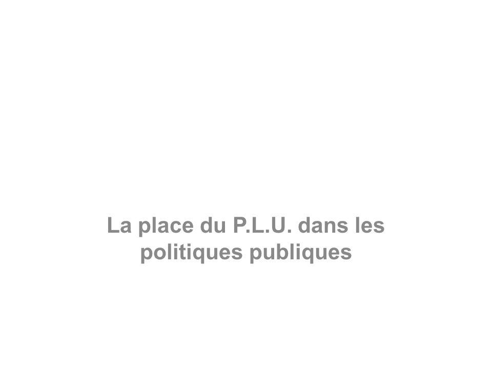 La place du P.L.U. dans les politiques publiques