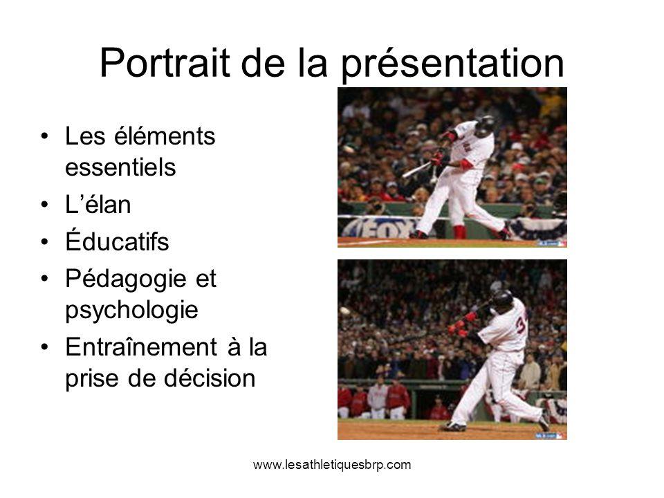 www.lesathletiquesbrp.com Portrait de la présentation Les éléments essentiels Lélan Éducatifs Pédagogie et psychologie Entraînement à la prise de déci