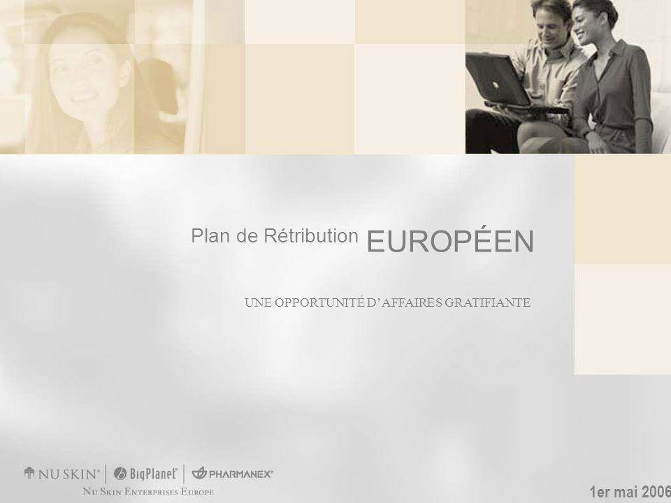UNE OPPORTUNITÉ DAFFAIRES GRATIFIANTE Plan de Rétribution EUROPÉEN 1er mai 2006
