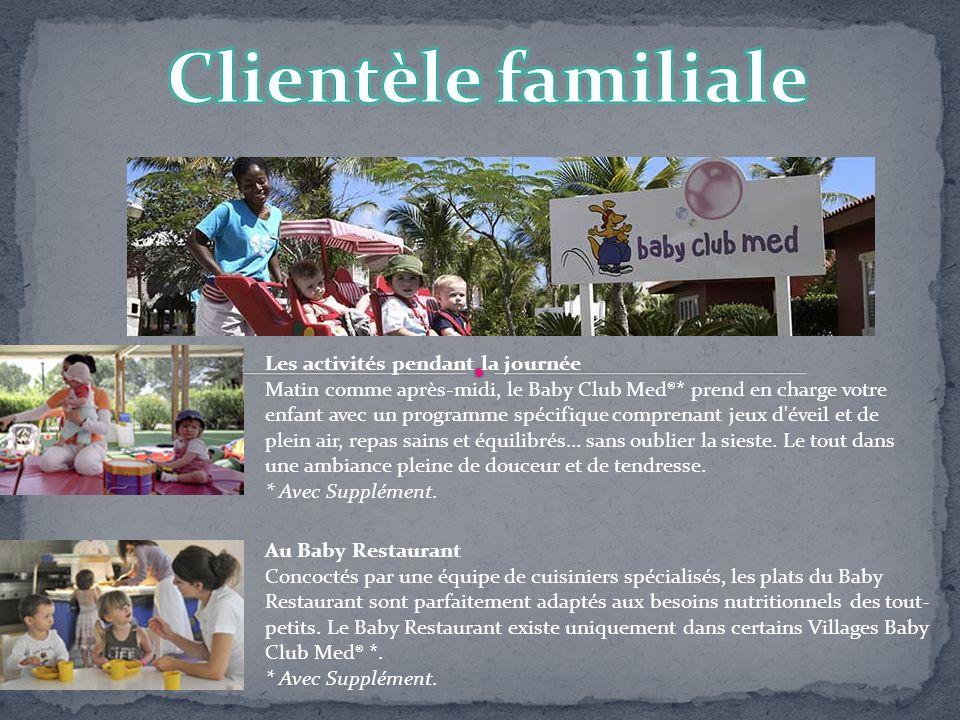 Les activités pendant la journée Matin comme après-midi, le Baby Club Med®* prend en charge votre enfant avec un programme spécifique comprenant jeux