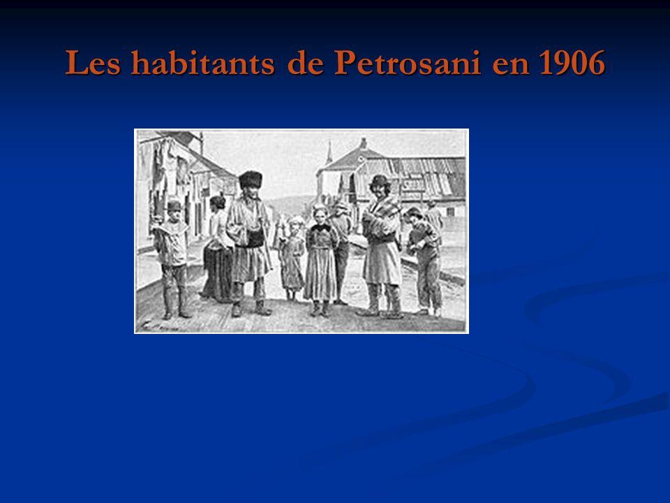 Les habitants de Petrosani en 1906
