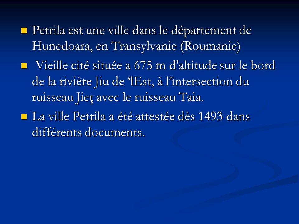 Petrila est une ville dans le département de Hunedoara, en Transylvanie (Roumanie) Petrila est une ville dans le département de Hunedoara, en Transylv