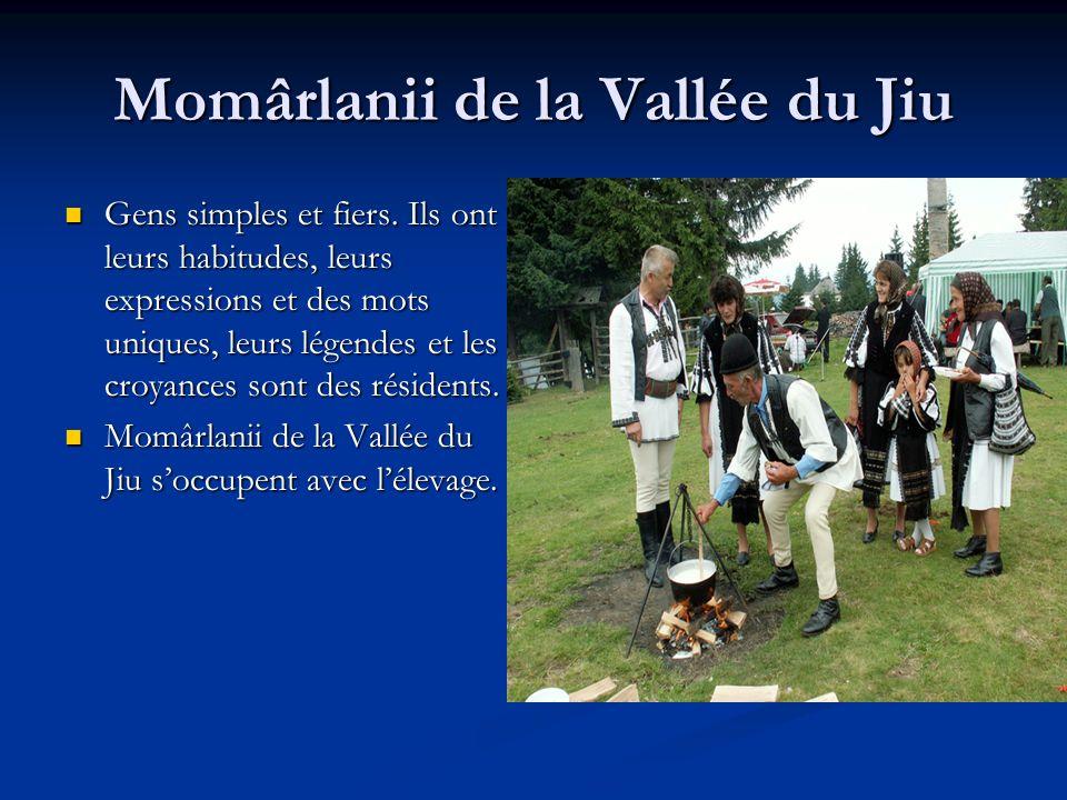 Momârlanii de la Vallée du Jiu Gens simples et fiers. Ils ont leurs habitudes, leurs expressions et des mots uniques, leurs légendes et les croyances